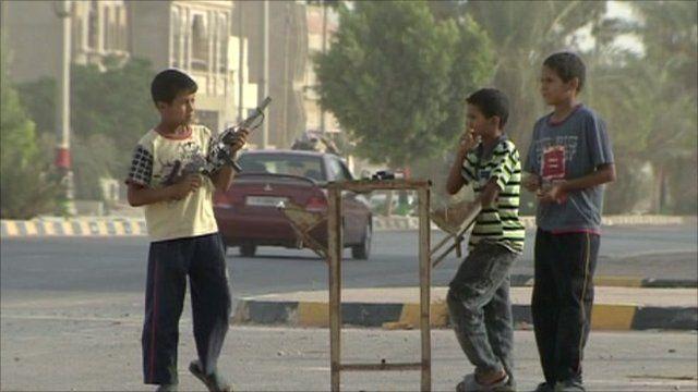 Kids on streets of Ajdabiya