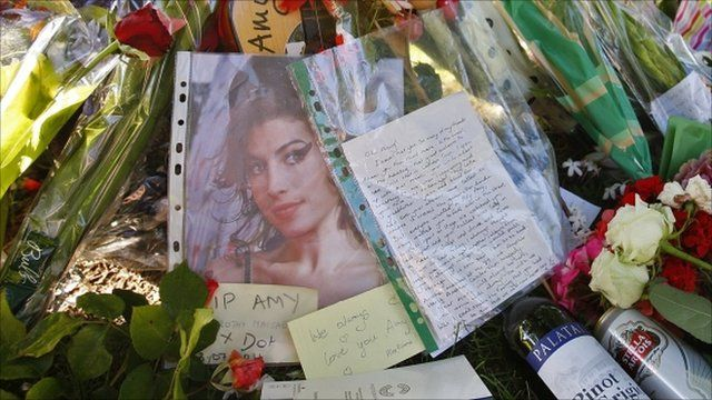 Tributes in Camden to Amy Winehouse