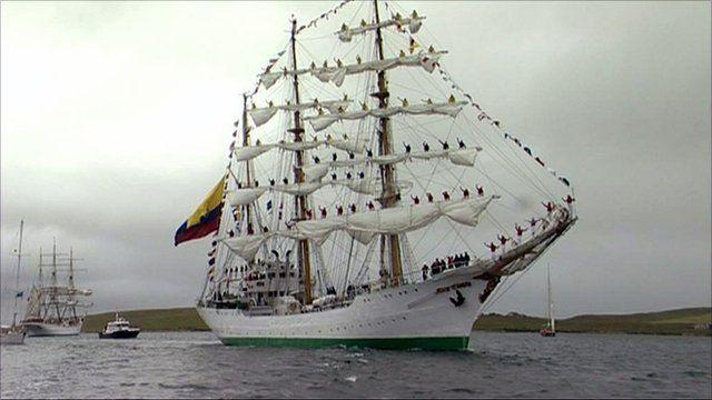 Tall ships leave Lerwick