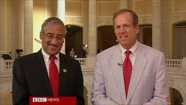 Democratic Representative Bobby Scott and Republican Representative Jack Kingston
