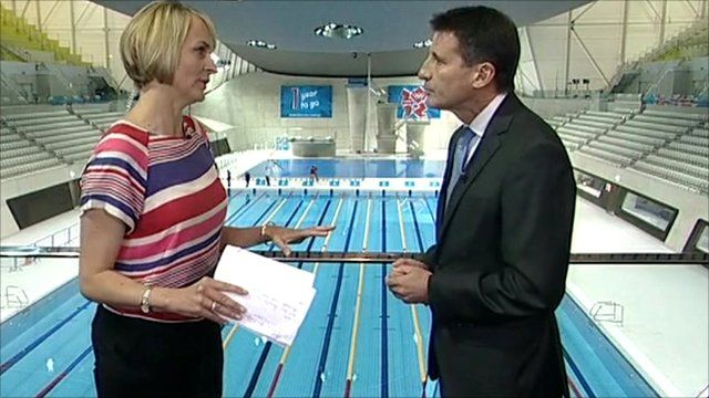 The BBC's Louise Minchin and Lord Coe
