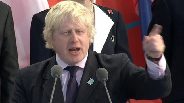 London 2012: 'See you in London' says Boris Johnson - BBC News