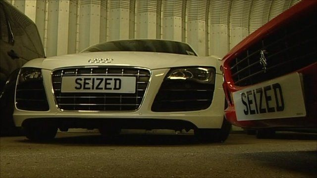 Cars seized by police