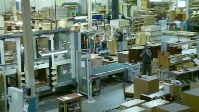 Inside a US furniture factory