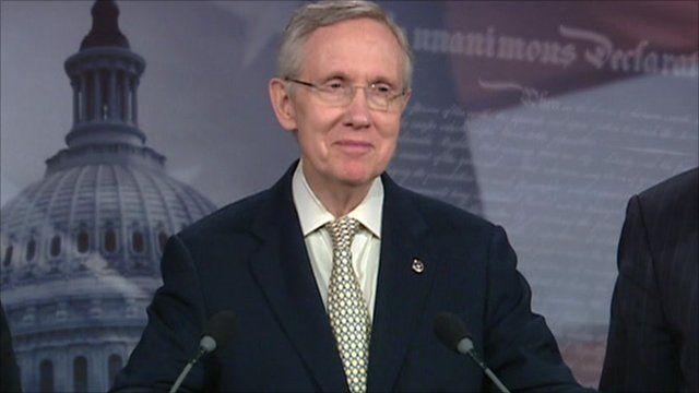 Leader of the Democrats in the US Senate, Senator Harry Reid