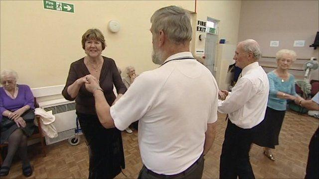 Dancing pensioners