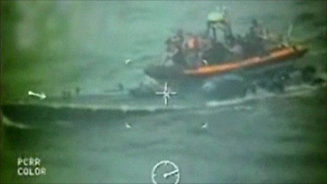 US Coast Guard board submarine