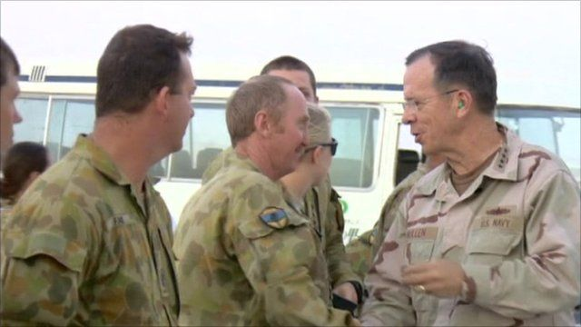 Admiral Mike Mullen in Afghanistan