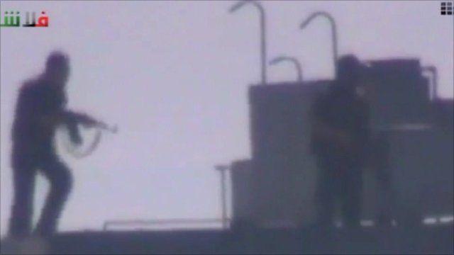 Gunmen on roof