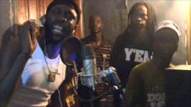 Rappers in Senegal