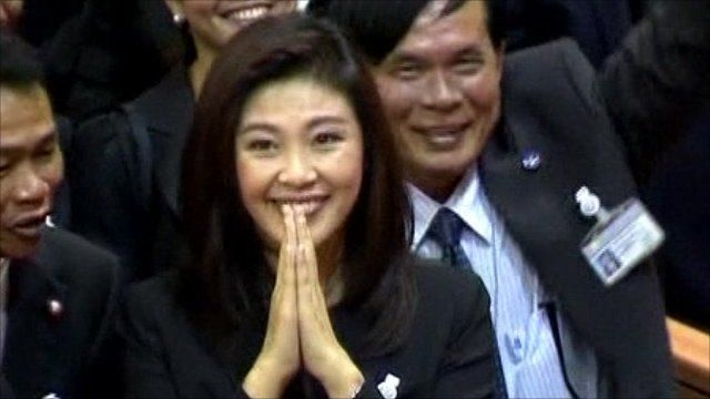 Thailands Prime Minister Yingluck Shinawatra