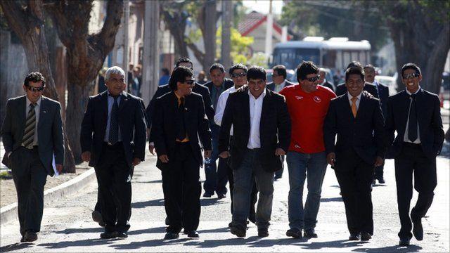 Alex Vega, Omar Reygadas, Claudio Yanez, Esteban Rojas, Samuel Avalos, Carlos Mamani and Jimmy Sanchez
