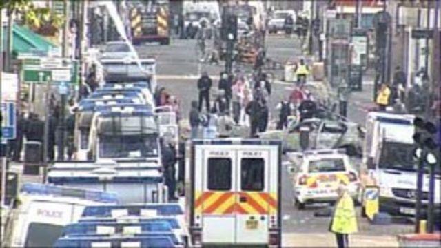 Riots in Tottenham after Mark Duggan shooting protest