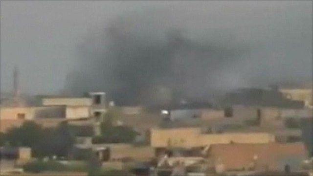 Smoke over Deir al-Zour