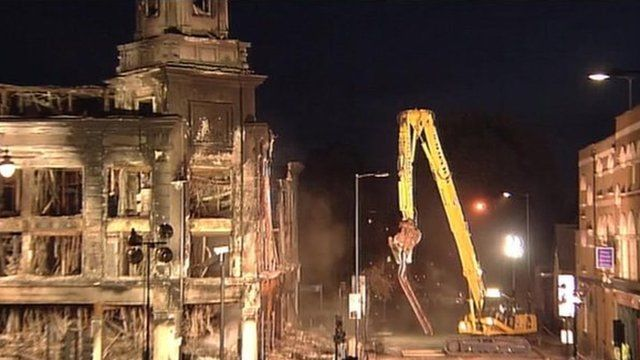 gutted building in Tottenham