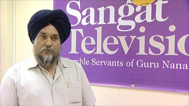 Jit Singh of community station, Sangat Television