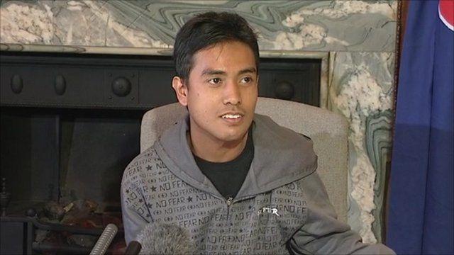 Malaysian student Ashraf Haziq