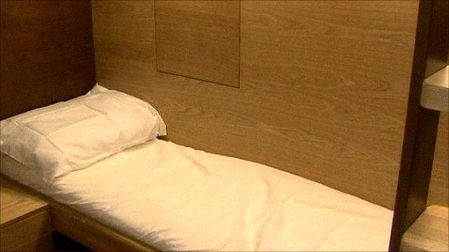 The 'Sleep Box' interior