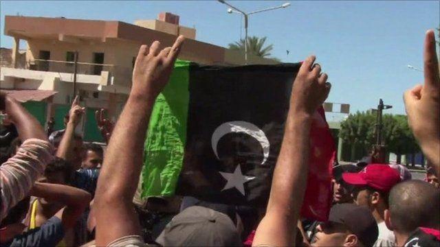 Rebel supporters in Libya