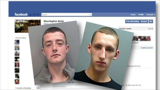 Two jailed for using Facebook to incite disorder