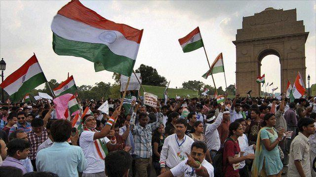 Hazare supporters