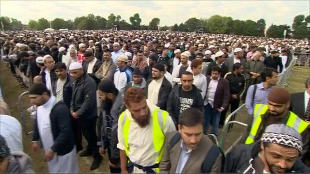 Thousands gathered in Birmingham for the service