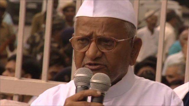 Indian activist Anna Hazare
