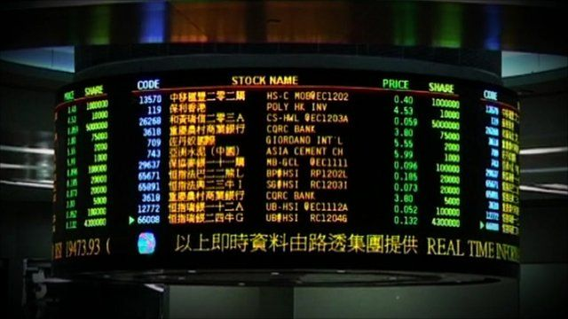 Display of stock market prices