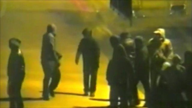 Rioting on the streets of Birmingham in August 2011