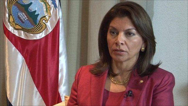 Costa Rica's President Laura Chinchilla