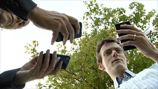 Mobile phones being used in Didcot
