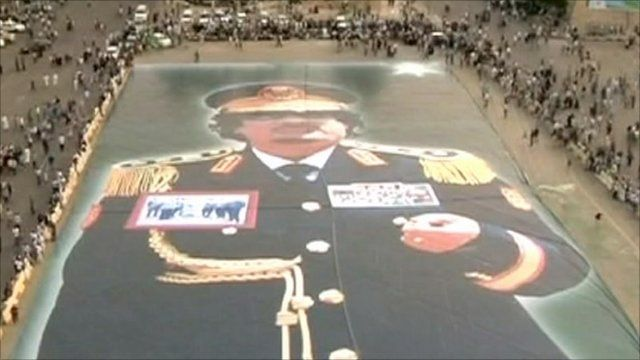 Picture of Gaddafi