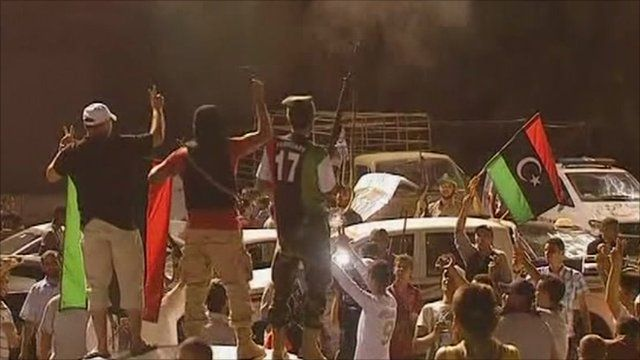 Libyan rebels gathered in Tripoli's Martyr Square