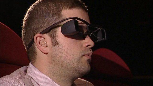 Man in subtitle glasses