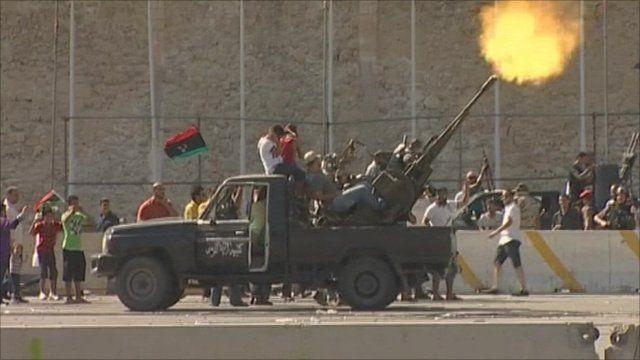 Rebels celebrate advances in Tripoli