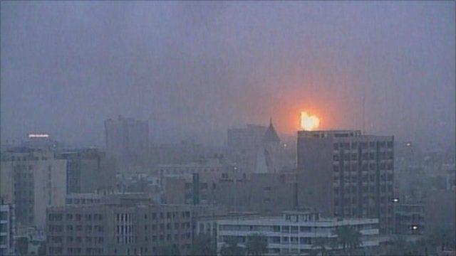 Air strike on Baghdad
