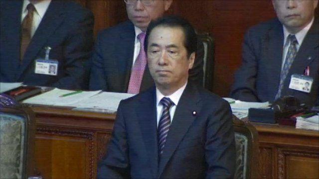 Japan's beleaguered Prime Minister Naoto Kan