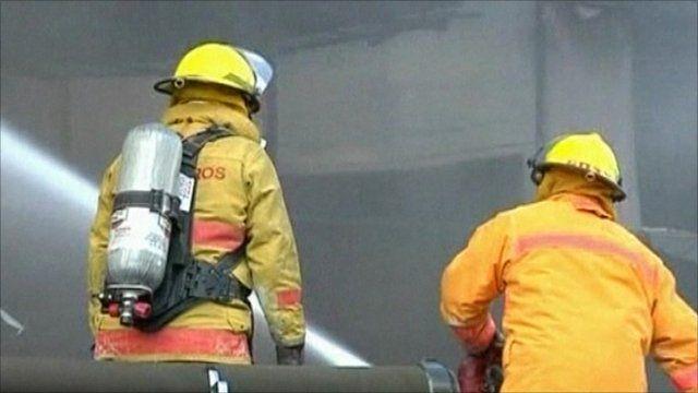 Firemen at the scene