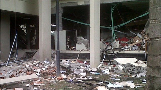 Large explosion struck the United Nations' main office in Nigeria's capital Abuja.