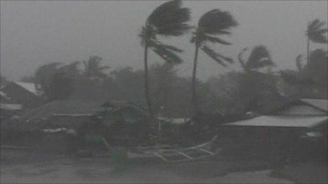 Typhoon hits Philippines