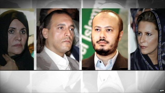 Col Gaddafi's wife, two of his sons and his daughter are said to be in Algeria