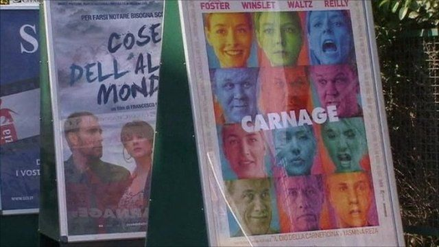 Posters advertising Venice Film Festival shows