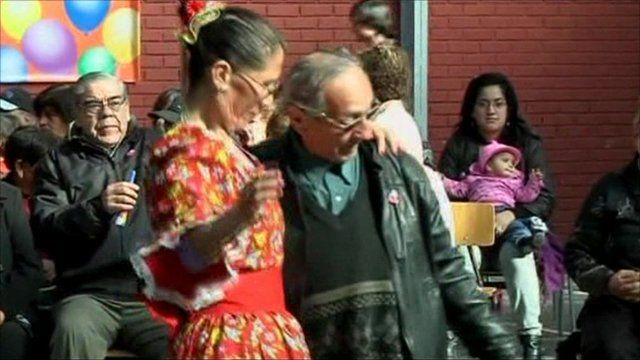 Pensioners dance in Chile