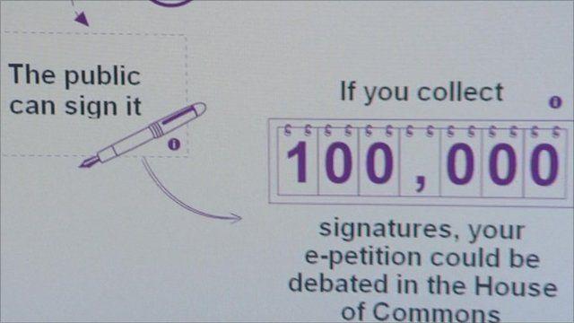 E-petition graphic