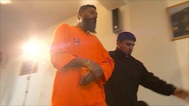 Prisoner led away