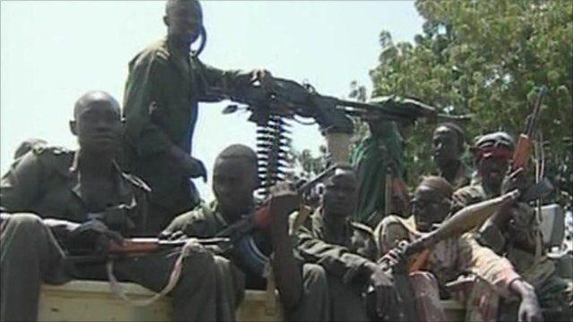 Armed men in Sudan