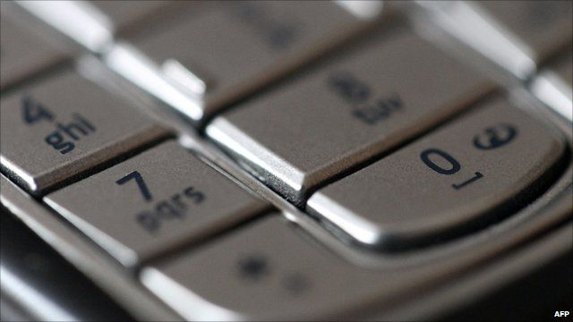 Close up of a mobile phone keypad