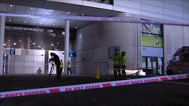 Site of incident outside Wembley stadium