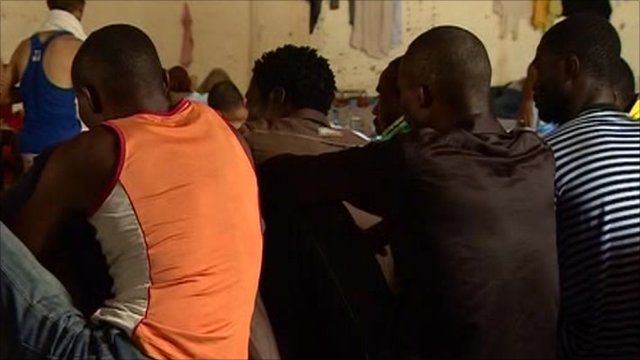 African nationals captured by anti Gaddafi forces