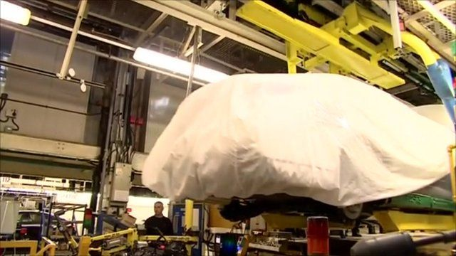 New MG6 car on the production line